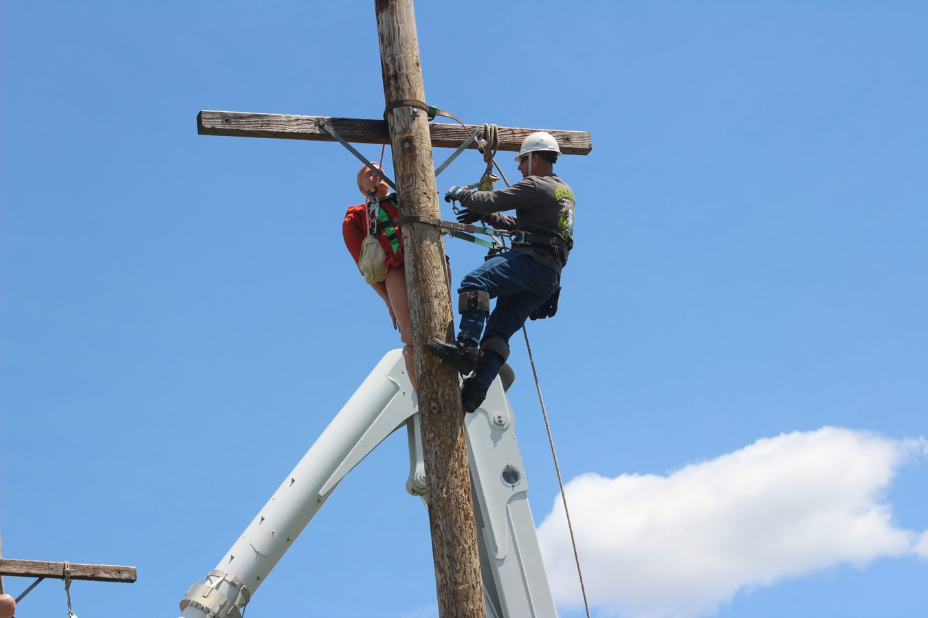 Climbing for Lost Lineman Rodeo
